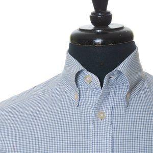 Wings + Horns Blue Graph Check Button Down Shirt